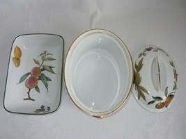 Royal Worcester Evesham Vale Covered Casserole + Rectangular Serving Dish Bowl image 2
