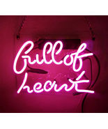 "New Full Of Heart Wall Decor Acrylic Back Neon Light Sign 14"" Fast Ship - $60.00"