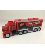 Disney Cars Mack Squinkies Truck Hauler Case Store and Go Carrier 2011 B... - $31.14