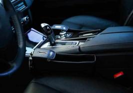 Black Leather Car Seat Storage Pocket Cup Holder - Catcher Gap Filler Or... - $29.35