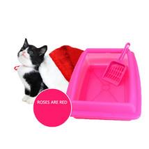 Pet Litter Box Cat Bedpans Semi Closed Anti-Splash Toilet Mat Plastic Tr... - $21.94