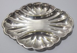 Vintage Sheffield Silver Co USA shell divided serving dish - $10.00