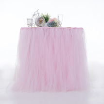 Any Color TABLE TUTU Skirt Rainbow Table Tulle Skirt Tutu Tulle Table Decoration image 11