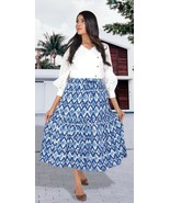Women's Clothing Skirts Floral Handmade Printed Skirt With Pockets Skirt - $16.99