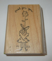 Just For You Rubber Stamp Girl Flower What a Great Day Close to My Heart... - $5.93