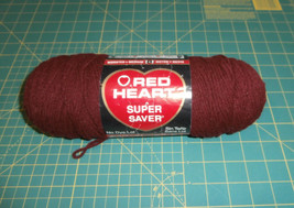 Claret Red Heart Super Saver 7 oz Worsted Weight - $7.84