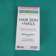 Nature's Bounty Hair Skin & Nails Biotin 60 Coated Caplets Exp 01/19 - $7.91
