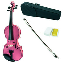 SKY 4/4 Full Size Solid Wood Pink Violin Beautiful Purfling with Brazilw... - $72.99