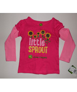 John Deere Toddler Girls Pink Long Sleeve Top T-Shirts 2T NWT - $11.19