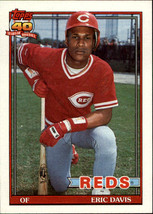 1991 Topps #550 Eric Davis - Baseball Card Cincinnati Reds - NM/MT - $0.40