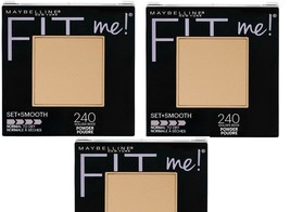 3 X Maybelline New York Fit Me! Pressed Powder, 240 Golden Beige, 0.3 oz. - $13.20