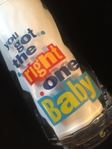 """Set of 3 Vintage 90s Diet Pepsi """"You Got the right one baby"""" Promo Tumblers image 6"""