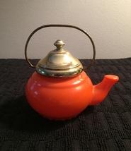 70s Avon Little Teapot with gold top and handle bath foam bottle (Lemon Velvet) image 3