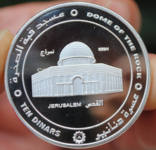 5pcs/lot, Jerusalem mosque dome of the rock  Dinars silver plated Palest... - £13.28 GBP+