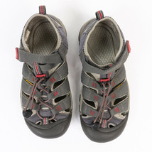 Keen Boys Youth H2 Waterproof Sandals Magnet Grey / Tango Red 1016282 Si... - $26.43