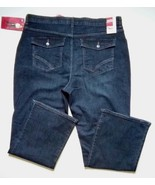 NWT LEE Sinfully Soft Womens 18W Dark Wash Stretch comfort Fit jeans Pan... - $27.88