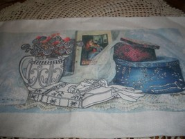 Hat Box Stamped Cross Stitch Fabric - $4.00