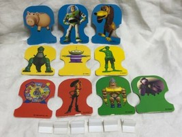 Game Parts Pieces Toy Story Toys Awaaaay! 1996 Mattel 10 Playing Pieces 5 Stands - $8.81