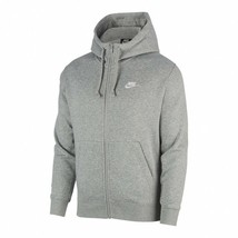 Nike Men's Sportswear Club Fleece Full-Zip Hoodie NEW AUTHENTIC Grey BV2... - $59.99
