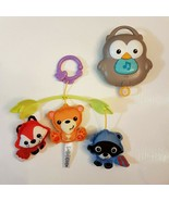 Fisher Price 3 in 1 Crib Mobile Woodland Friends Musical Lullaby Music A... - $13.86
