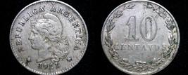 1921 Argentina 10 Centavo World Coin - $7.99