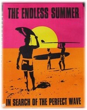 Endless Summer Surfer on the Beach with Sunset Canvas - $20.00