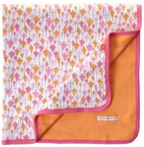 Magnificent Baby Baby Girls Newborn Reversible Blanket, kite print, One size
