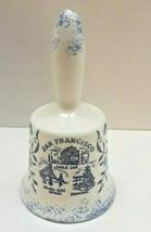 Vintage San Francisco Ceramic Blue & White Decorative Bell Cable Car Chi... - $14.85