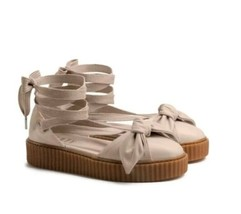 $140 Fenty Puma By Rihanna Women Bow Creeper Sandal Pink (365794-02) Sz 8.5 - $79.20
