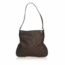 Pre-loved Gucci Brown GG Nylon Shoulder Bag Italy - $356.64