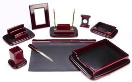 Majestic Goods Nine Piece Burgundy Oak Wood Desk Set - €122,99 EUR
