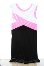 Black, White, Pink Glittered Leotard Unitard Sleeveless Fits 7-10 year girl - $14.84