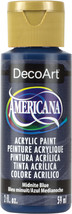 Americana Acrylic Paint 2oz-Midnight Blue - Semi-Opaque - $12.57