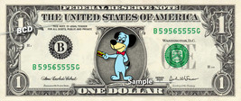 HUCKLEBERRY HOUND on REAL Dollar Bill Cash Money Collectible Memorabilia... - $8.88