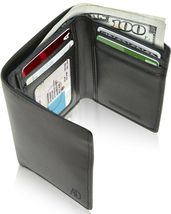 Vegan Leather Trifold Wallets For Men Cruelty Free Non Leather RFID Mens... - $26.98