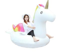 "Big Unicorn Inflatable Ride On Floats Pool Raft Swim Tube for Adults 81.5"" 207cm image 2"