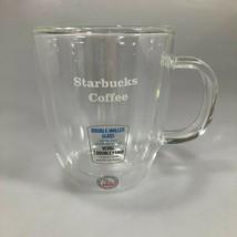 Starbucks Double Walled Mouth Blown Clear Glass Mug Bodum 16 oz NEW - $28.91