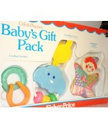 Fisher Price Baby Gift Pack 1983 Crib Playpen Toys teether activity ring... - $29.77