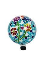 Mosaic Flowers Gazing Globe Ball 10 Inch Garden... - $104.99