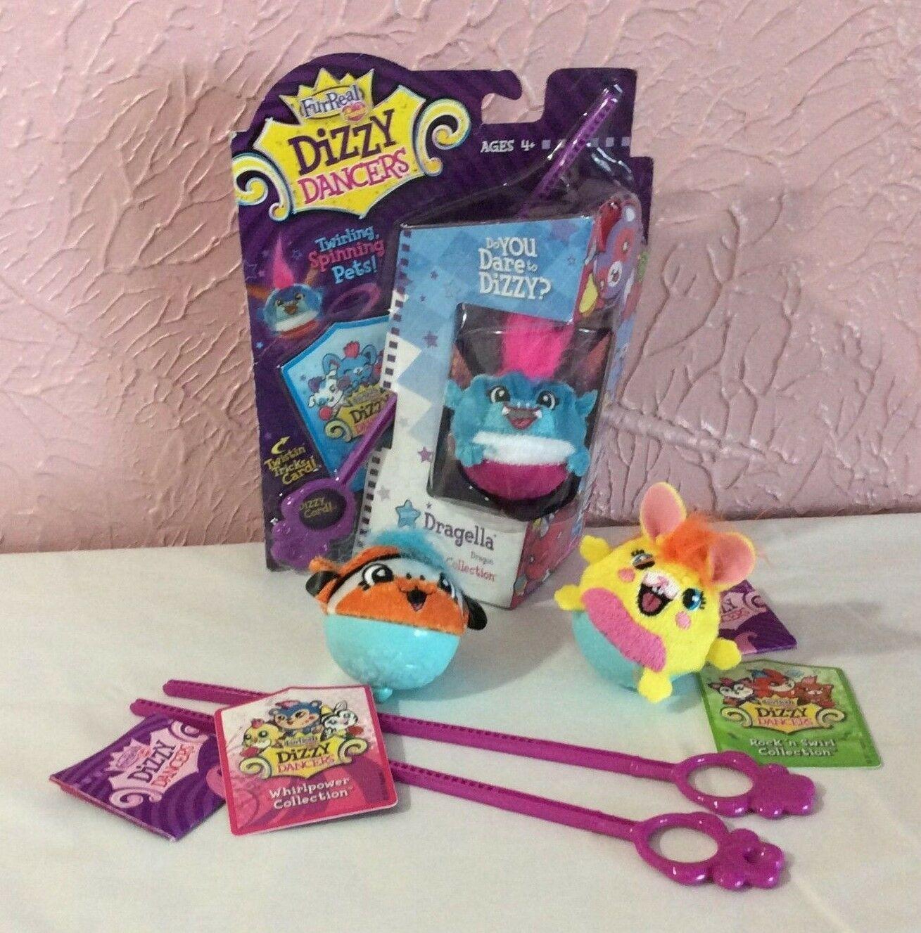 Lot 3 FurReal Friends Dizzy Dancers Twirlicious Whirlpower Rock n Swirl Kids Toy - $3.85