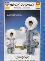 Eskimo Outfits, Fibre Craft World Friends Crochet Doll Clothing Pattern ... - $4.95