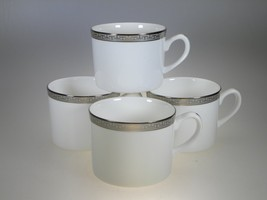 Royal Worcester Corinth Platinum Set of 4 Cups NEW Made in England - $26.68