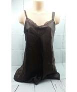 morgan taylor intimates brown nightgown size m bin30#56 - $14.01