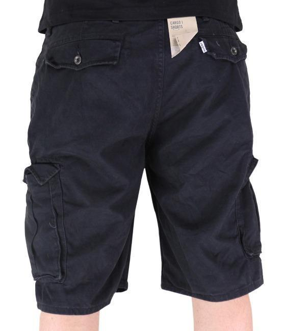 NEW LEVI'S MEN PREMIUM COTTON ORIGINAL RELAXED FIT CARGO SHORTS BLACK 124630024