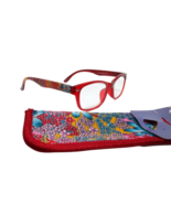 Foster Grant Eyesential Women's Blossom Red Reading Glasses with Case+1.00 - $19.79