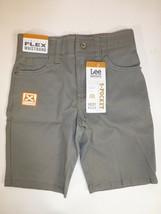 LEE Little Boys Size 5 Dungarees Extreme Motion 5 Pocket Iron Grey Shorts New - $10.88