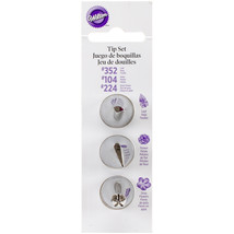 Decorating Tip Set -#104 Petal, #352 Leaf & #224 F - $7.58