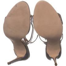 Steve Madden Sidney Ankle Strap Heeled Sandals 772, Silver, 10 US image 6