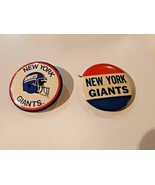 New York Giants NFL  Buttons Lot of 2 - $17.81