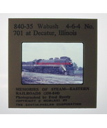 Slide~1971~Wabash 4-6-4 #701~Steam Locomotive~Decatur,Illinois~Blackhawk~ - $8.00